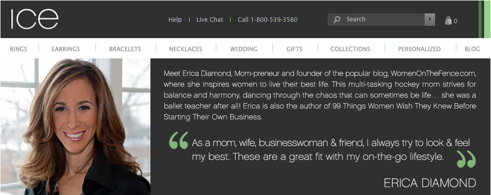 EXCLUSIVE: Erica Diamond Spokesperson for ICE – Unveils 'The Erica Diamond Collection' of Jewelry