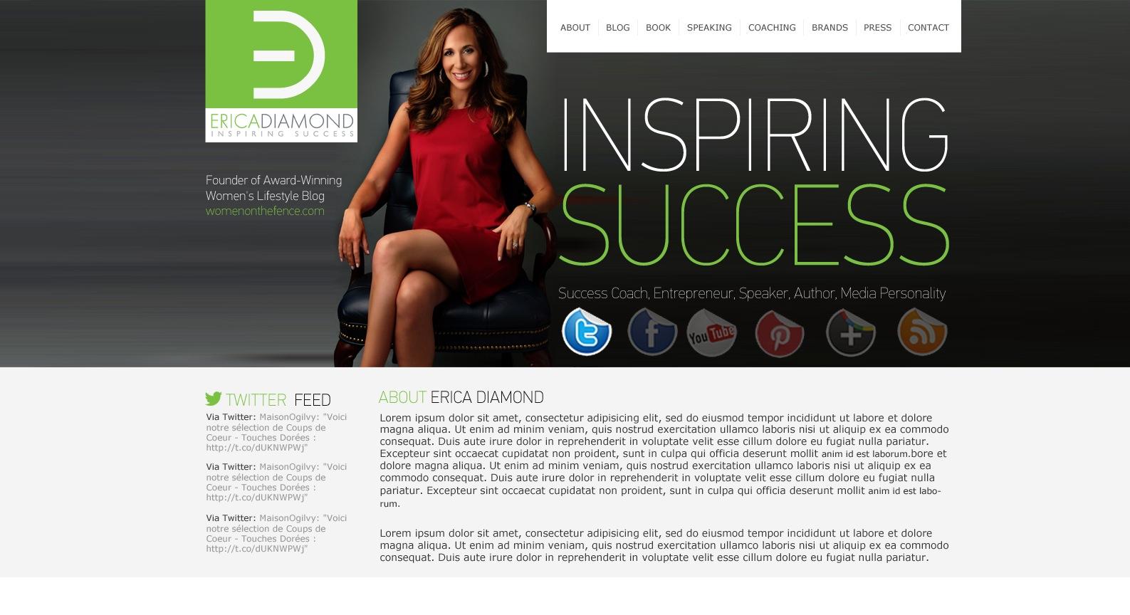 Wordless Wednesday: Erica-Diamond.com