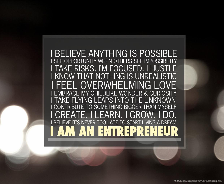 So, You Wanna Become An Entrepreneur?