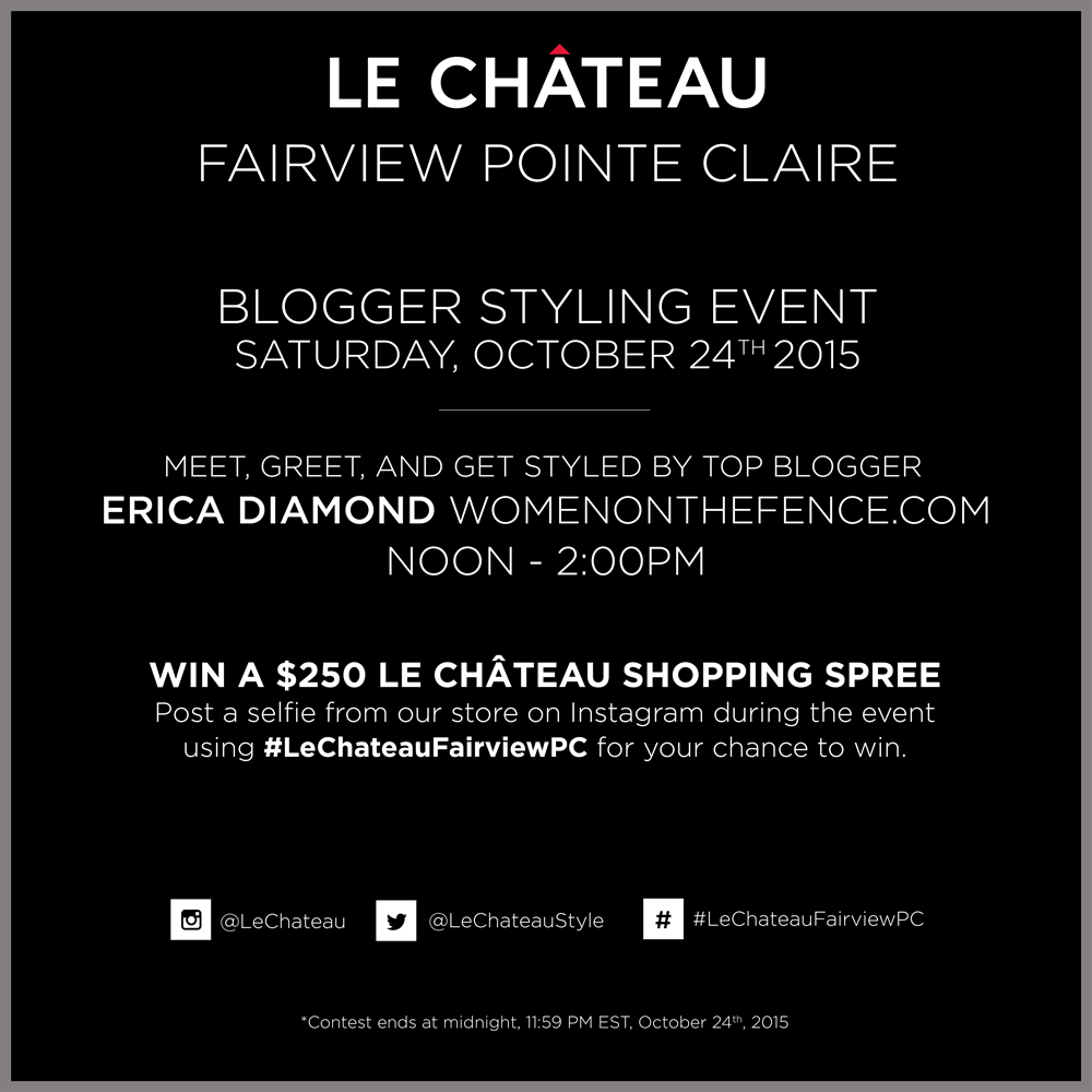 Come and Meet Me This Saturday at LE CHÂTEAU!