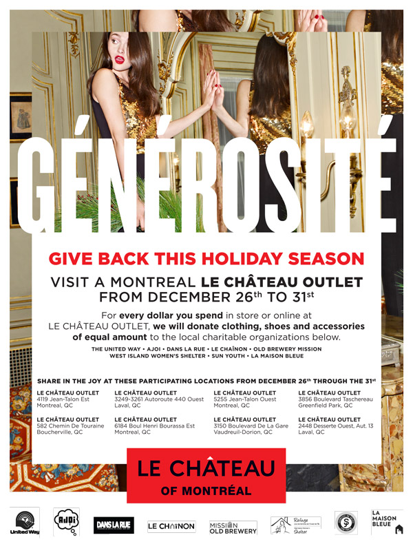 LE CHATEAU Is Giving Back In A BIG WAY