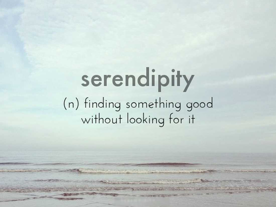 Does Serendipity Exist or is it Tenacity in Disguise?