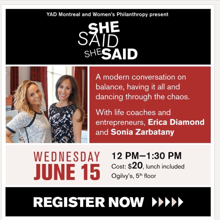 SHE SAID, SHE SAID: A Women's Luncheon in Montreal